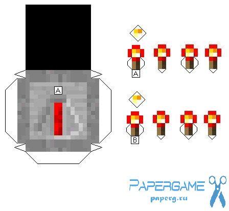 Как сделать факелы из редстоуна
